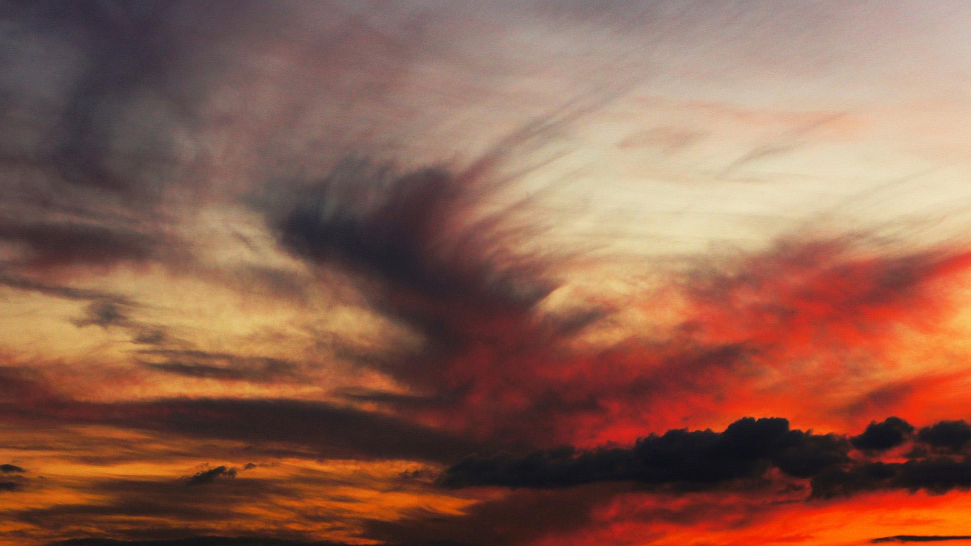 Пылающие облака