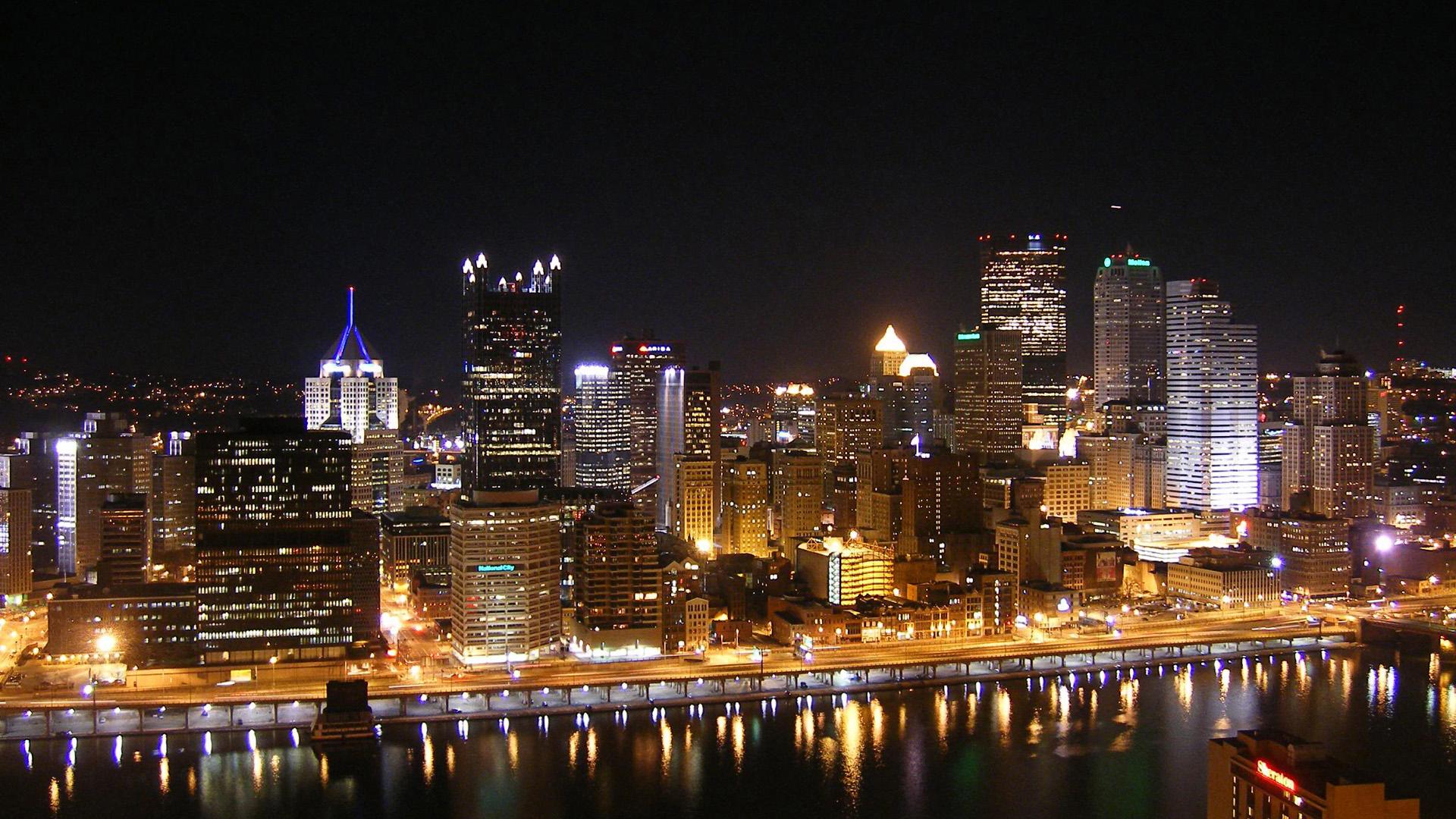 Ночные огни большого города