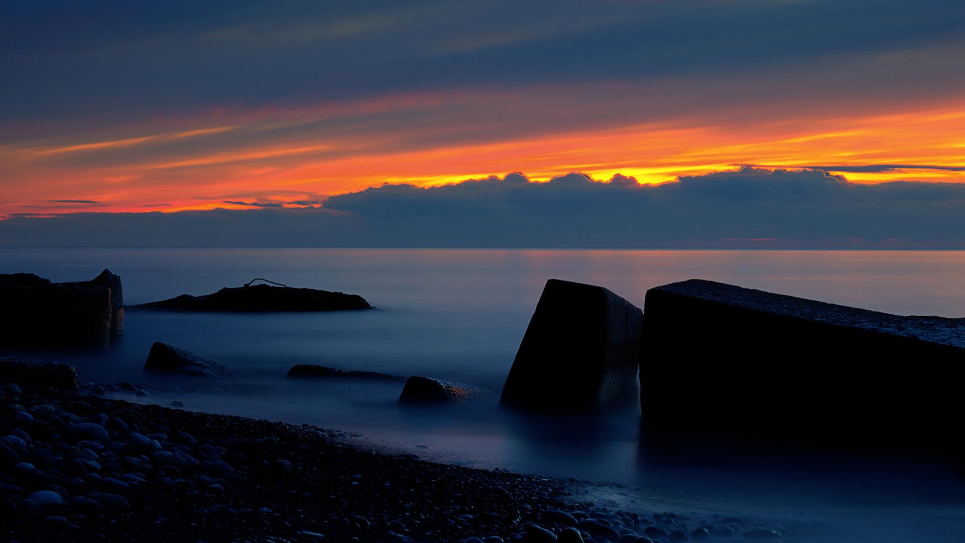 Горящий закат