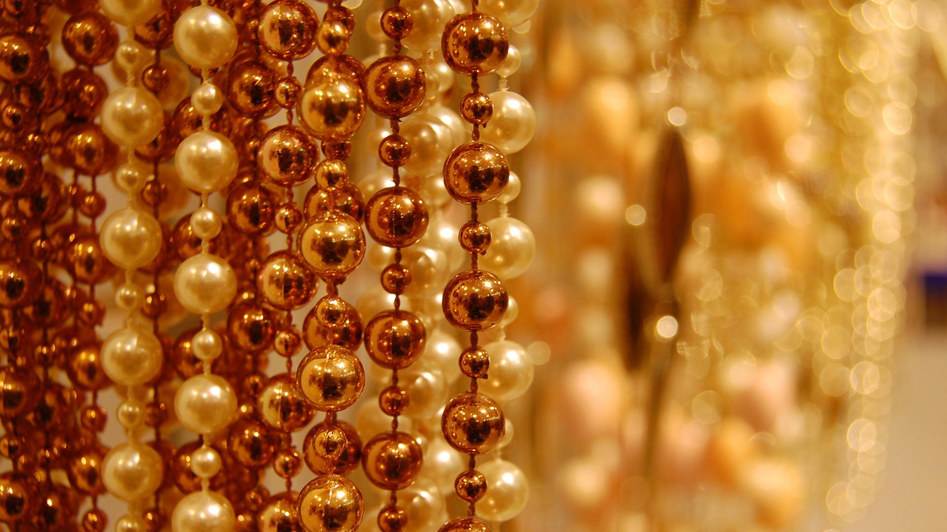 Золотые бусины