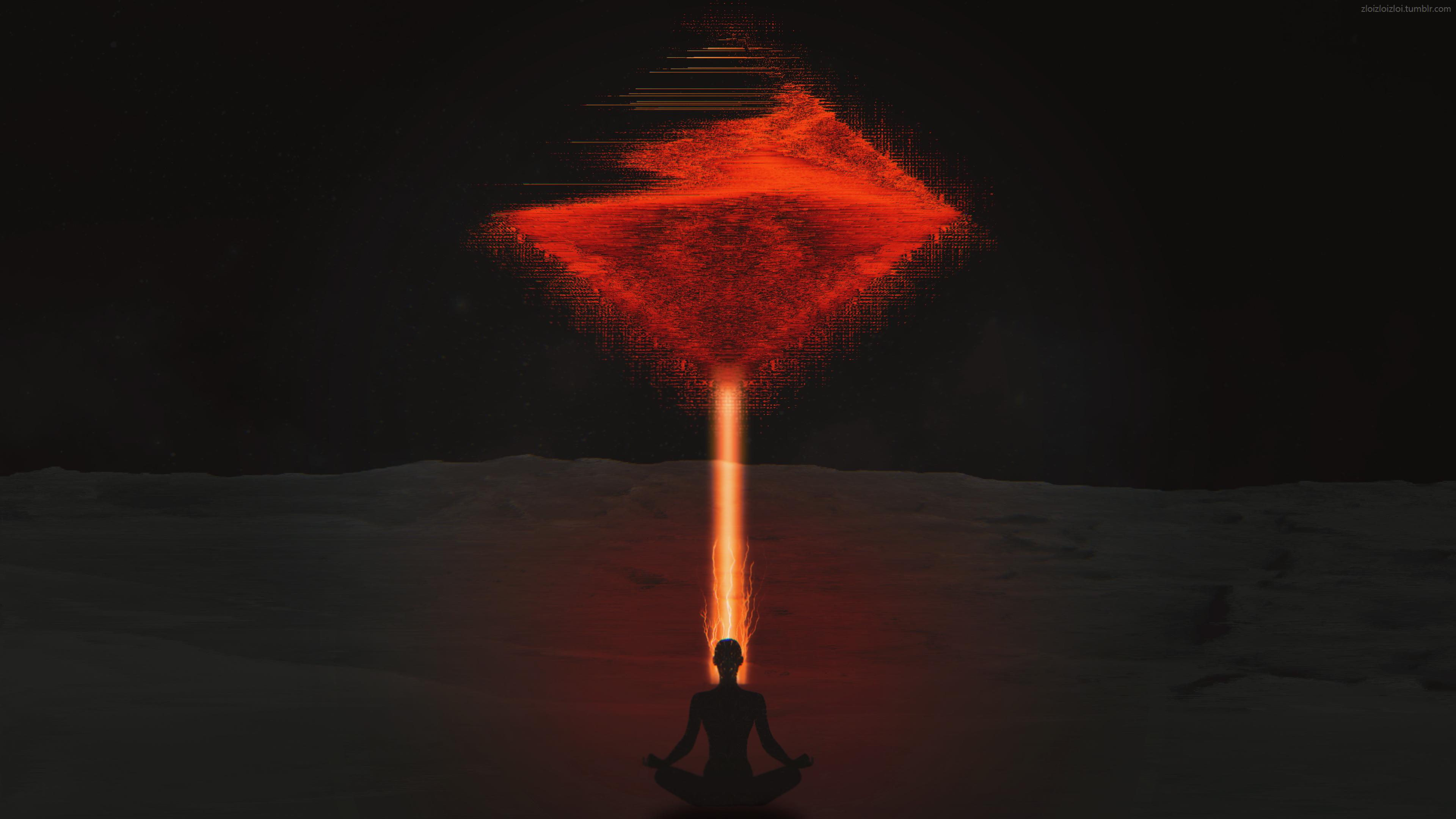 Оранжевый лазер