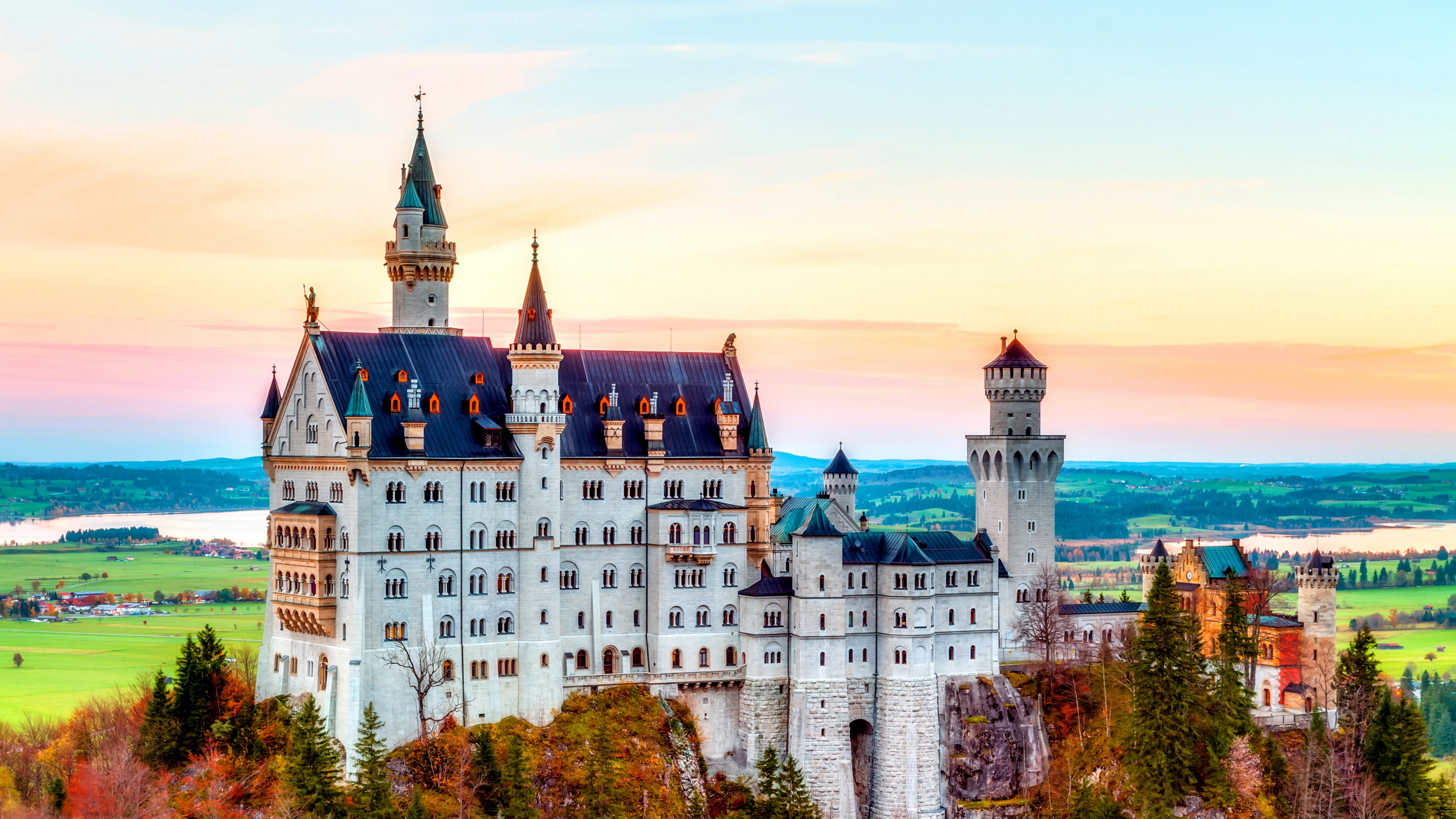 Лебединый замок в Баварии