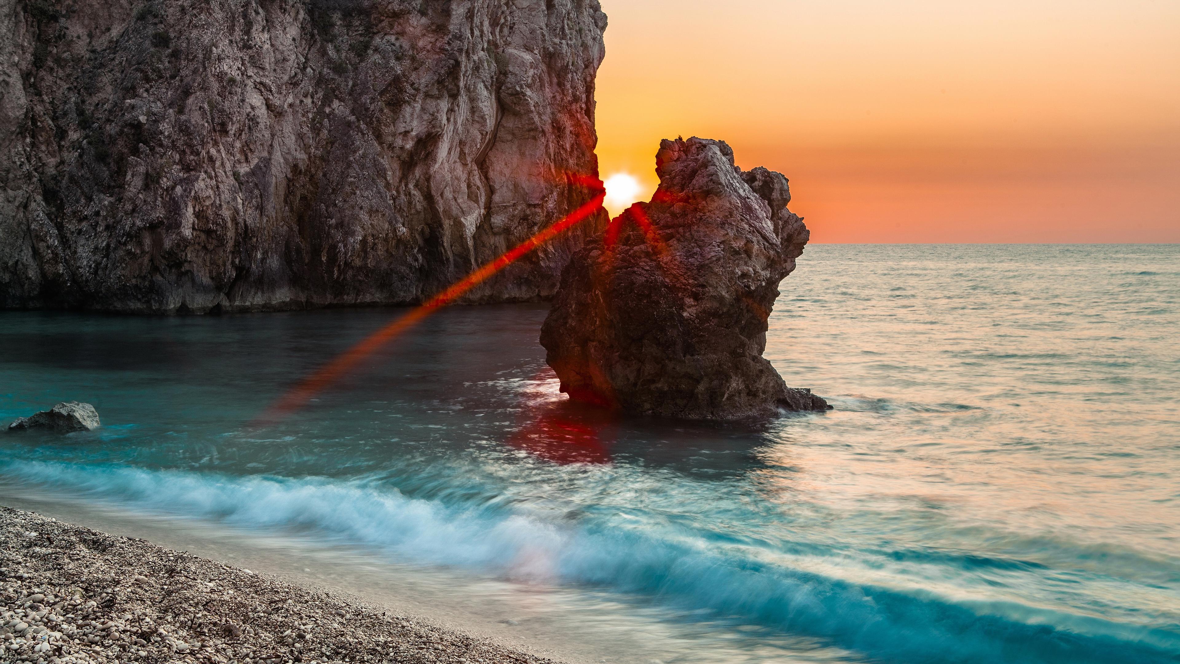 Красные лучи