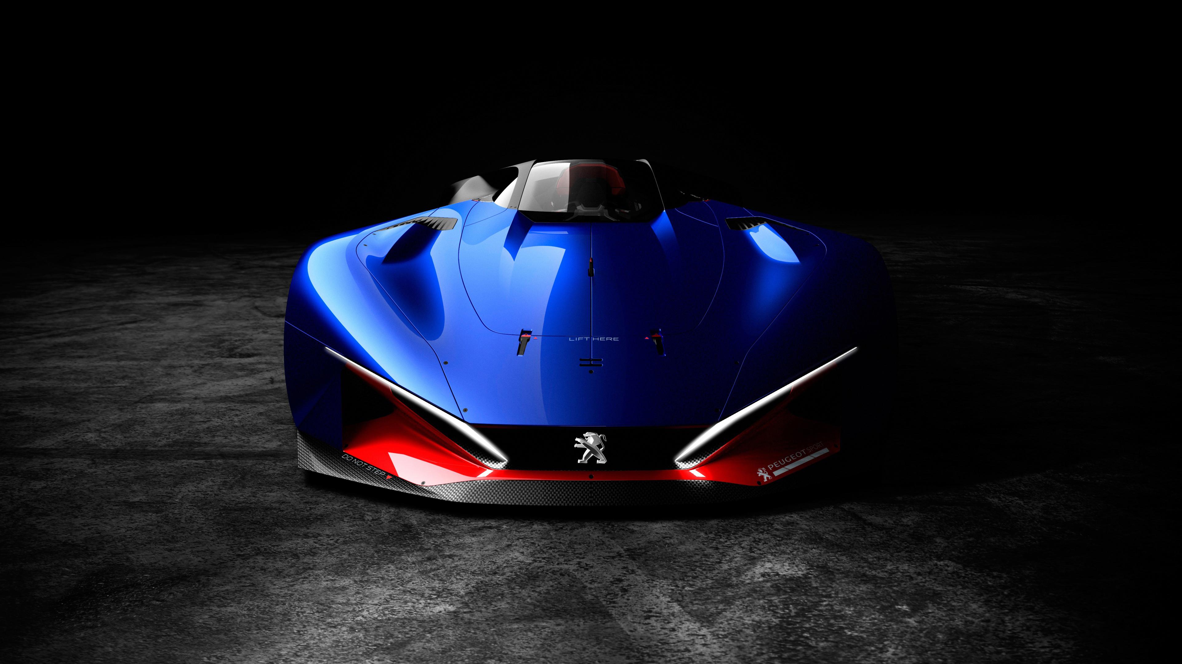 Ярко-синий супермобиль