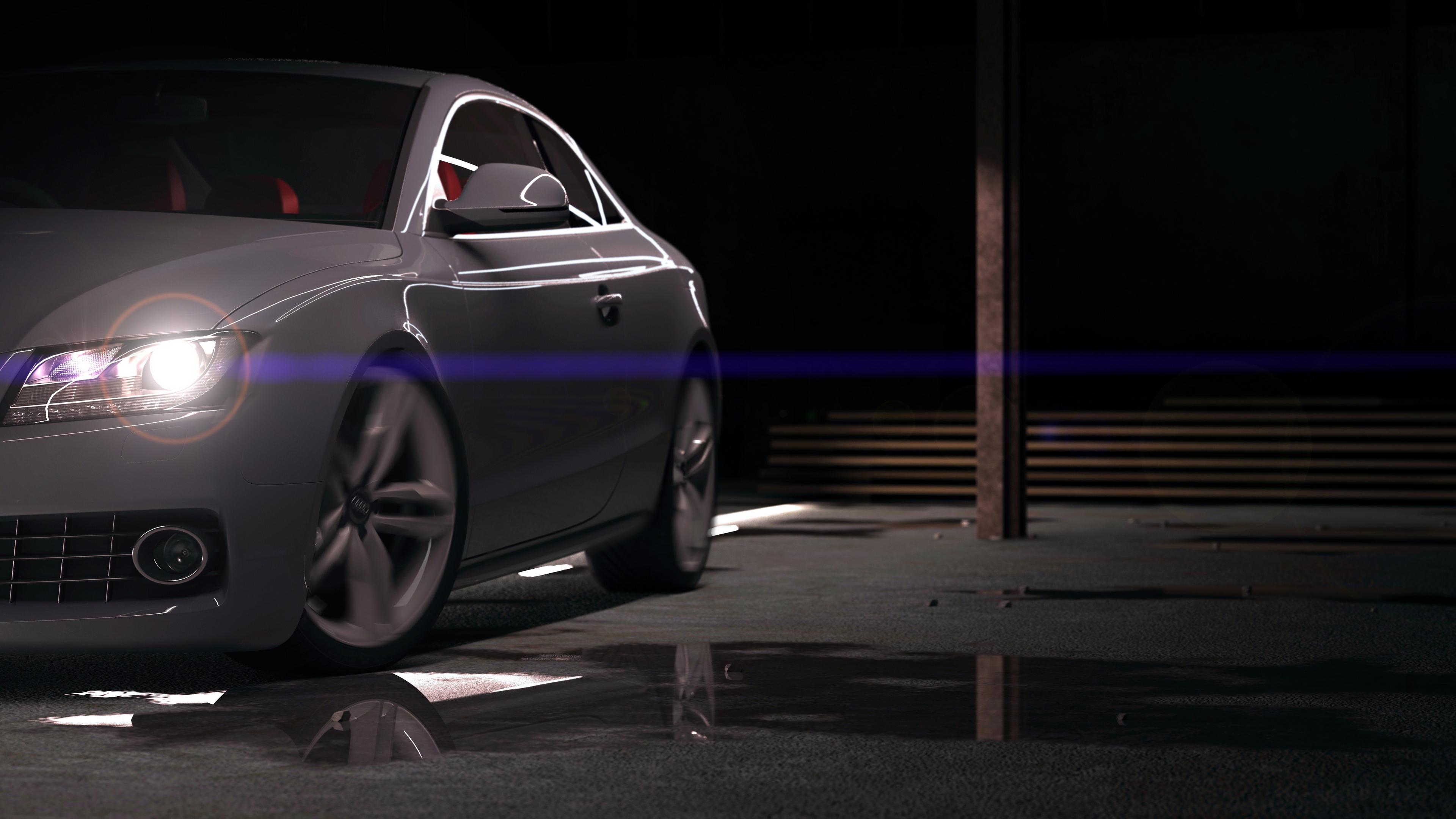 Темно-серый автомобиль