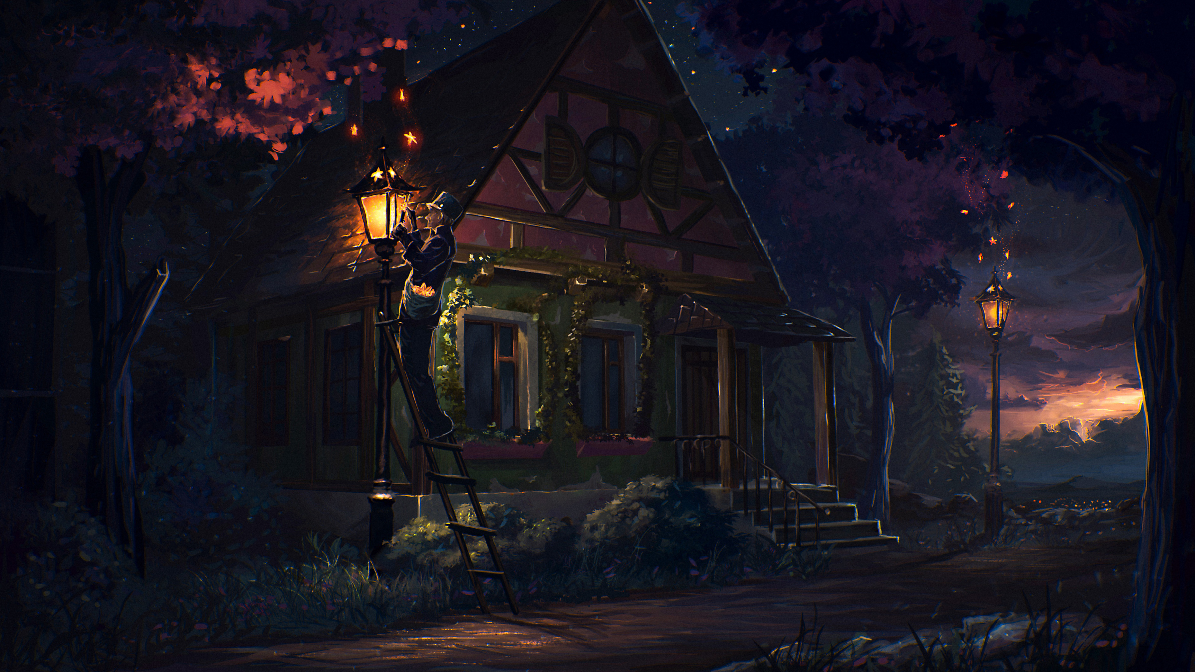 Сказочный дом в лесу