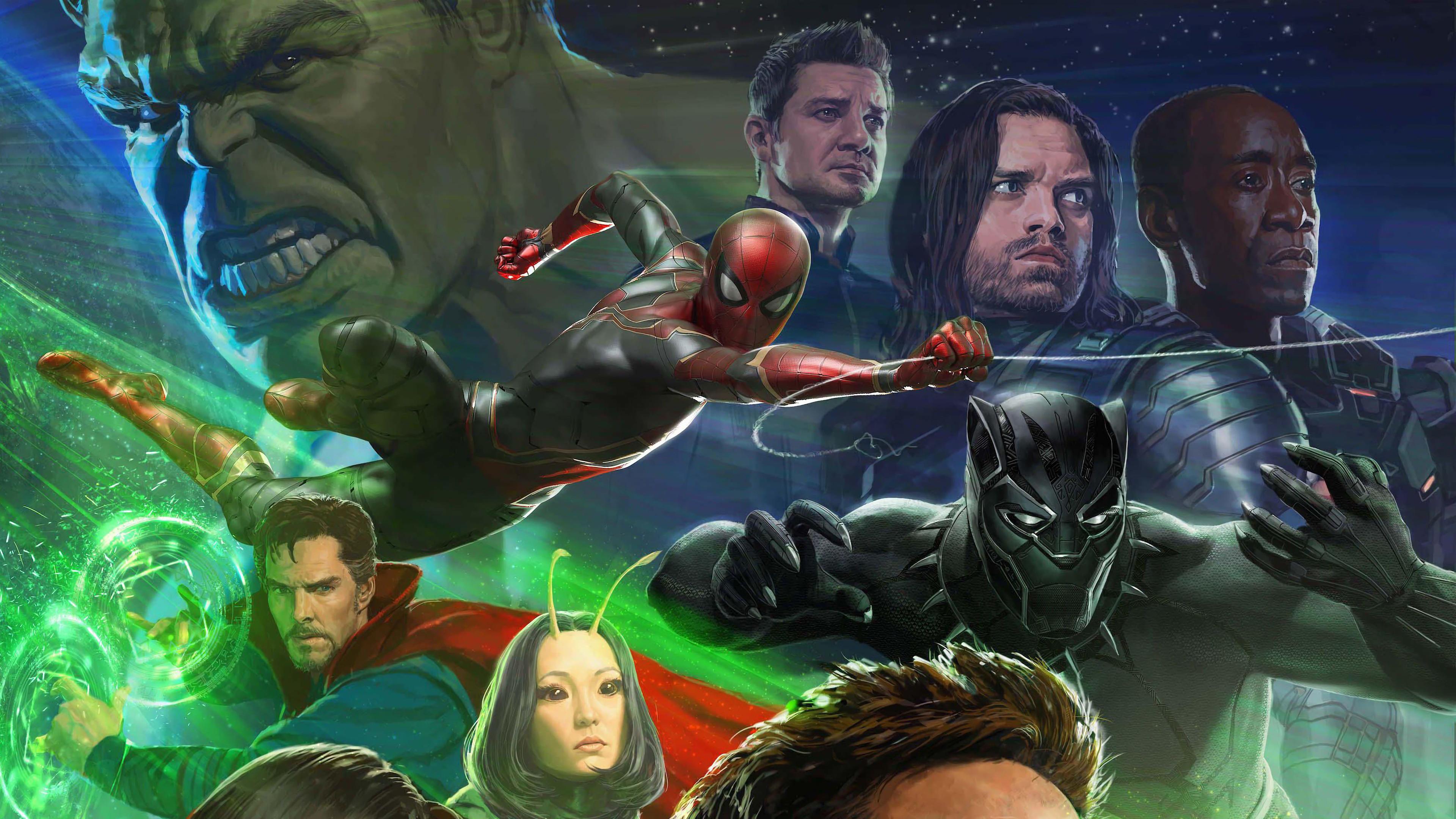 Человек-паук и главные герои фильма