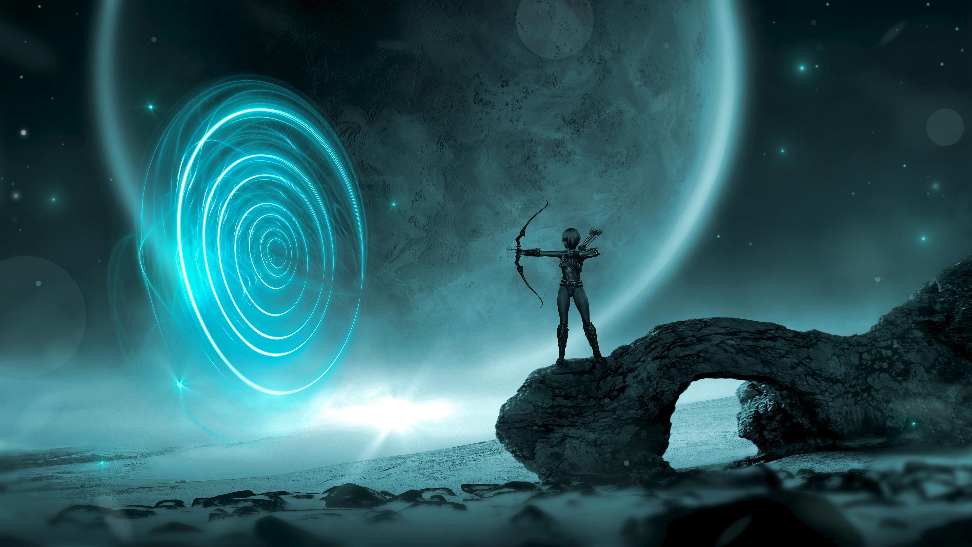 Звездная вселенная и инопланетянин