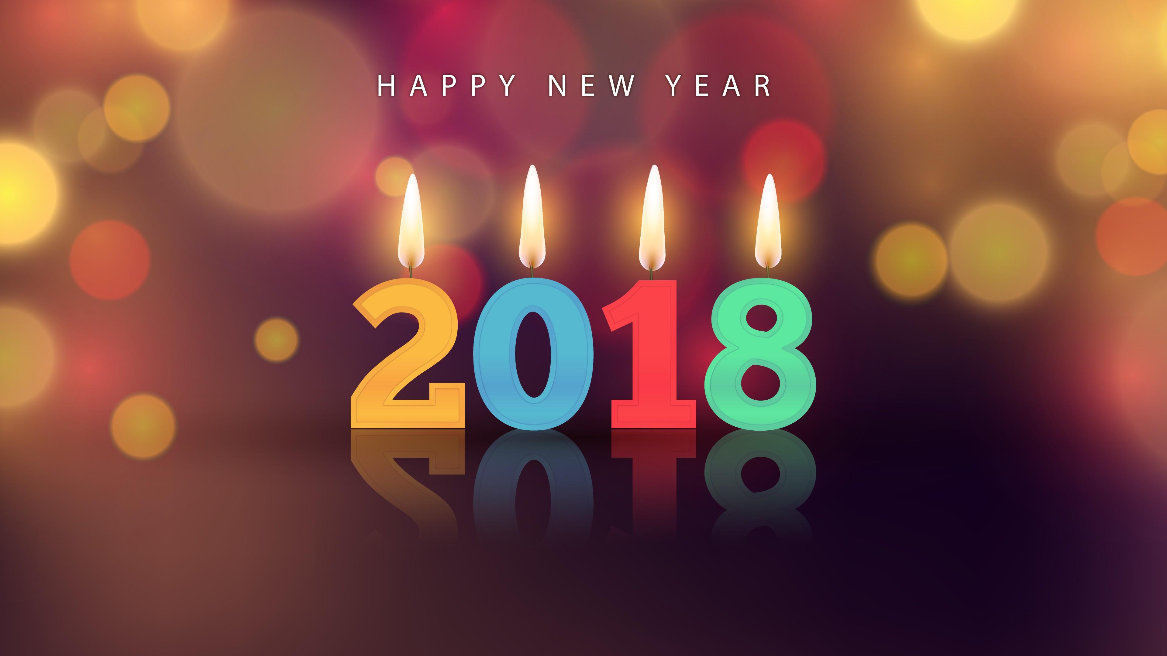 Счастливый Новый 2018 год при свечах