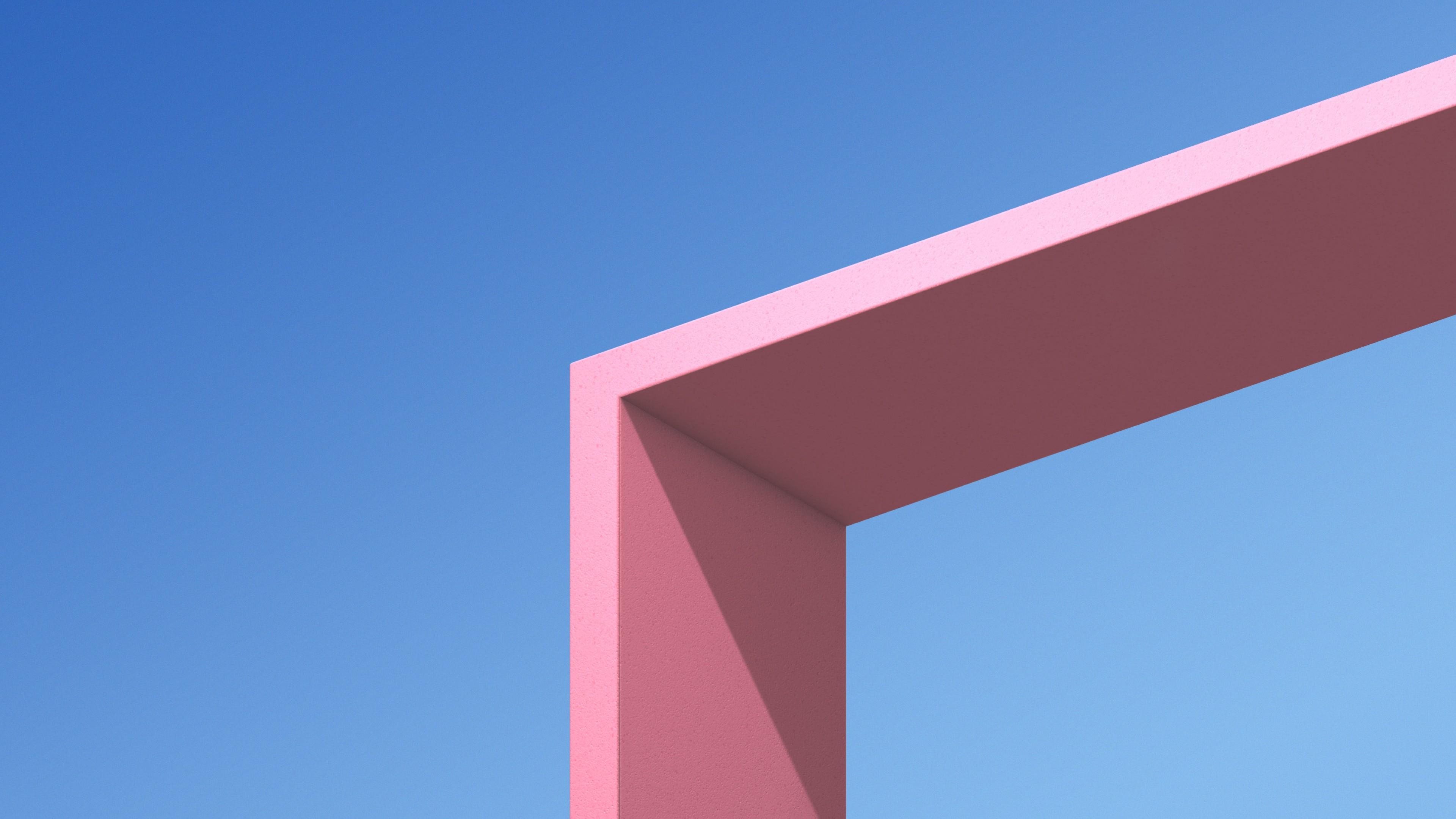 Сине-розовый геометрический фон