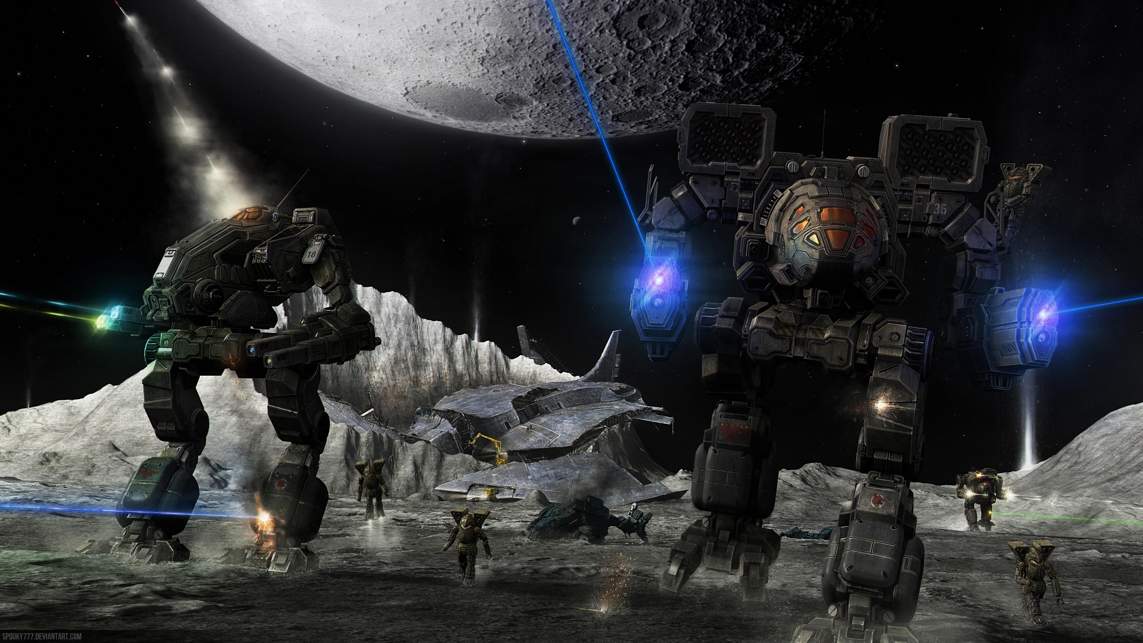 Боевые,бронированные роботы во вселенной