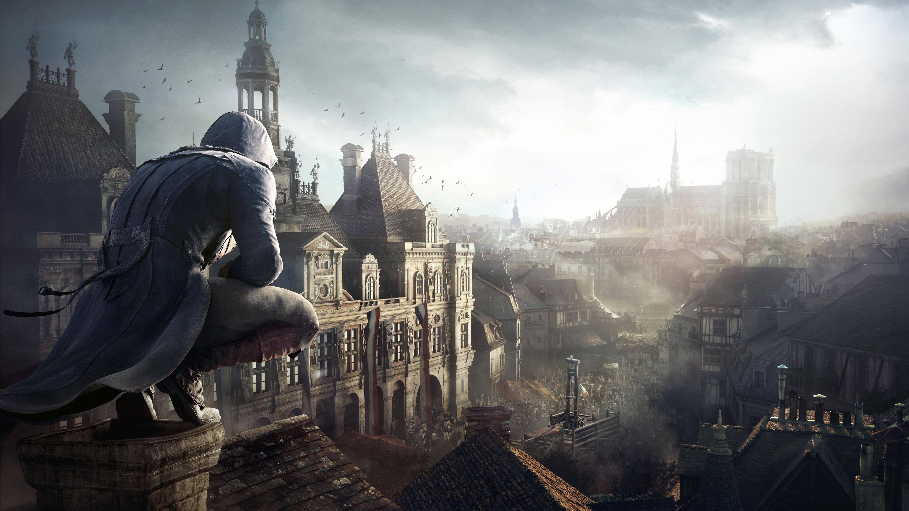 Воин на самой высокой башне в полуразрушенном городе