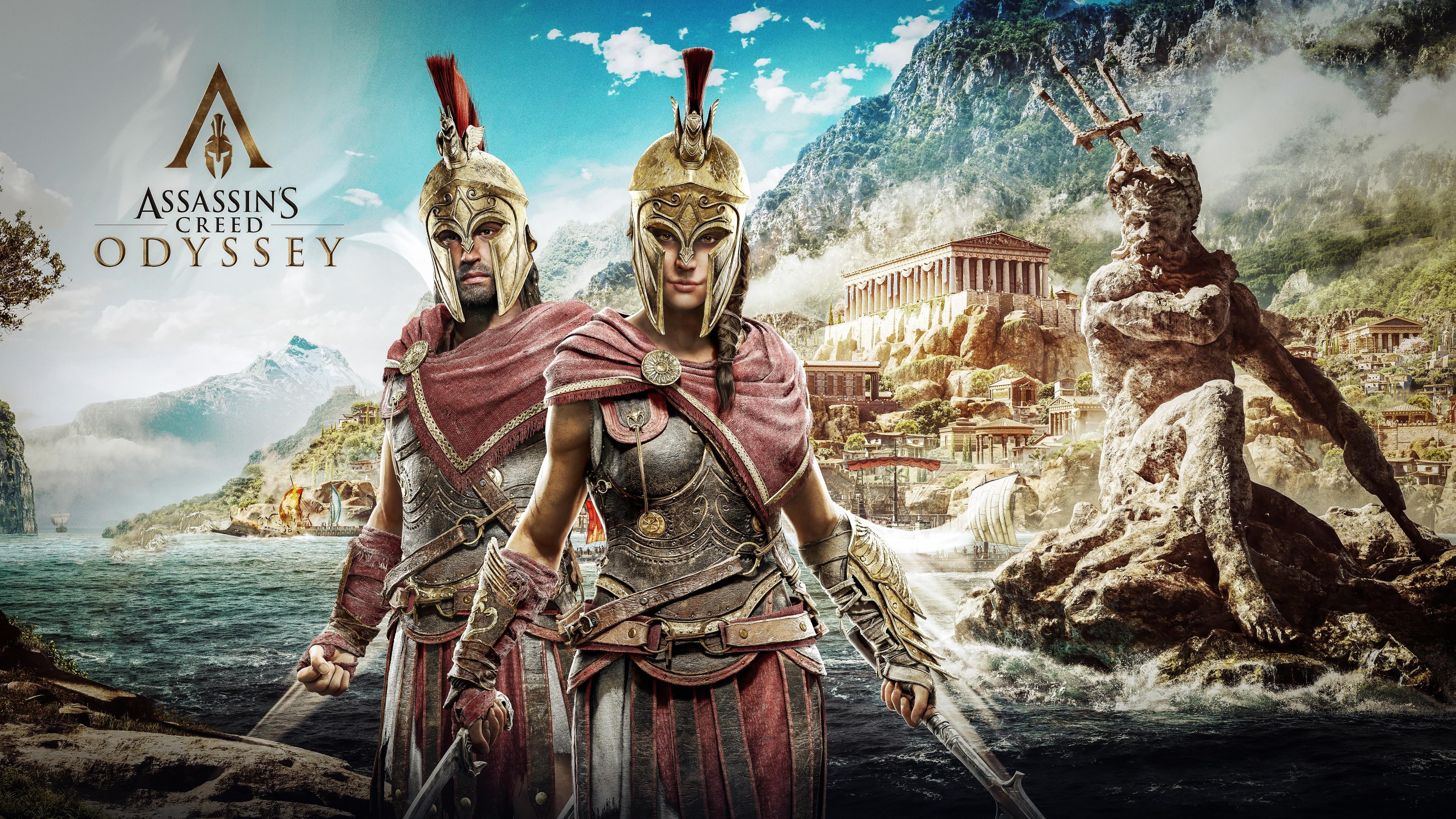 Герои-спартанцы в золотых шлемах,доспехах и с оружием в морских водах