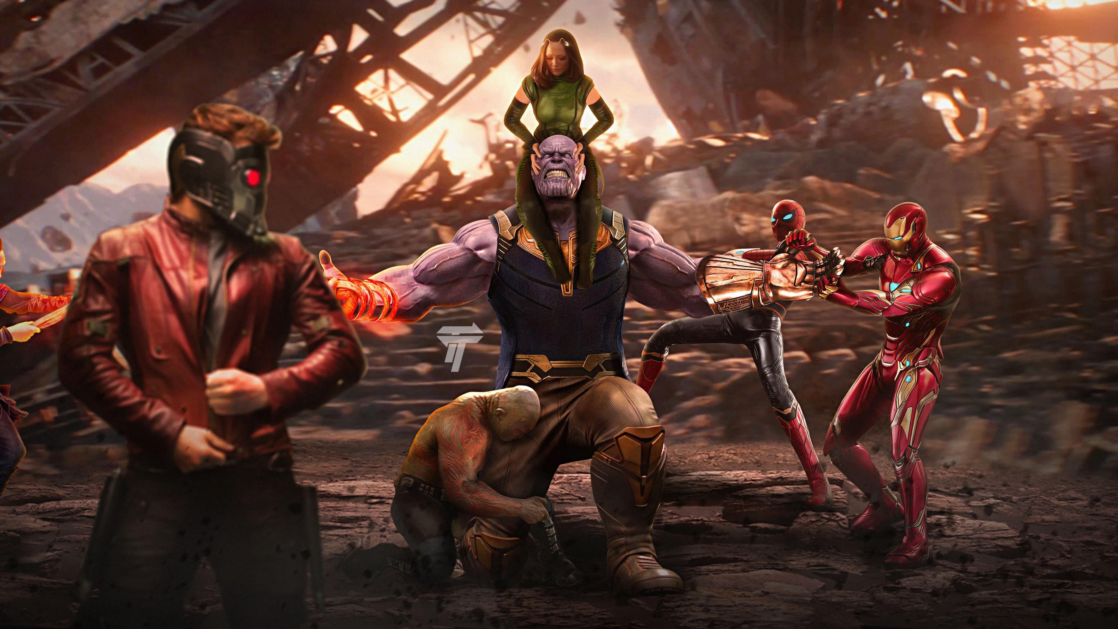 Галактика,Тиран-разрушитель необычайной силы и Мстители