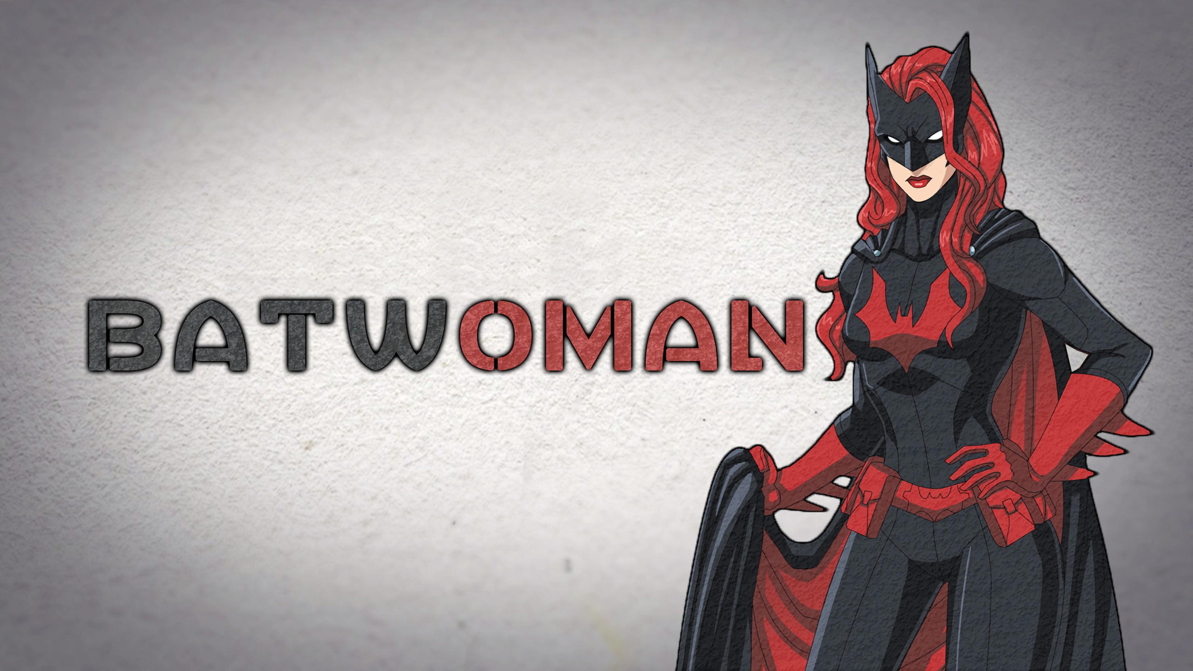 Плакат девушка-летучая мышь в черной маске,плаще и ярко-красными локонами