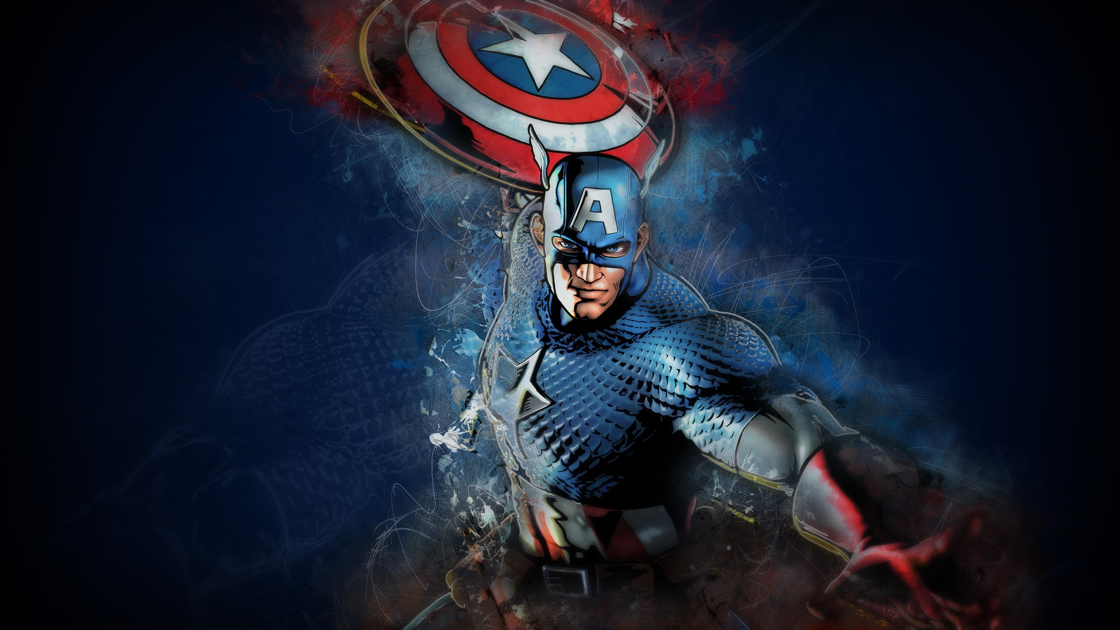 Полет Человека-паука в шлеме и красным щитом во Вселенной