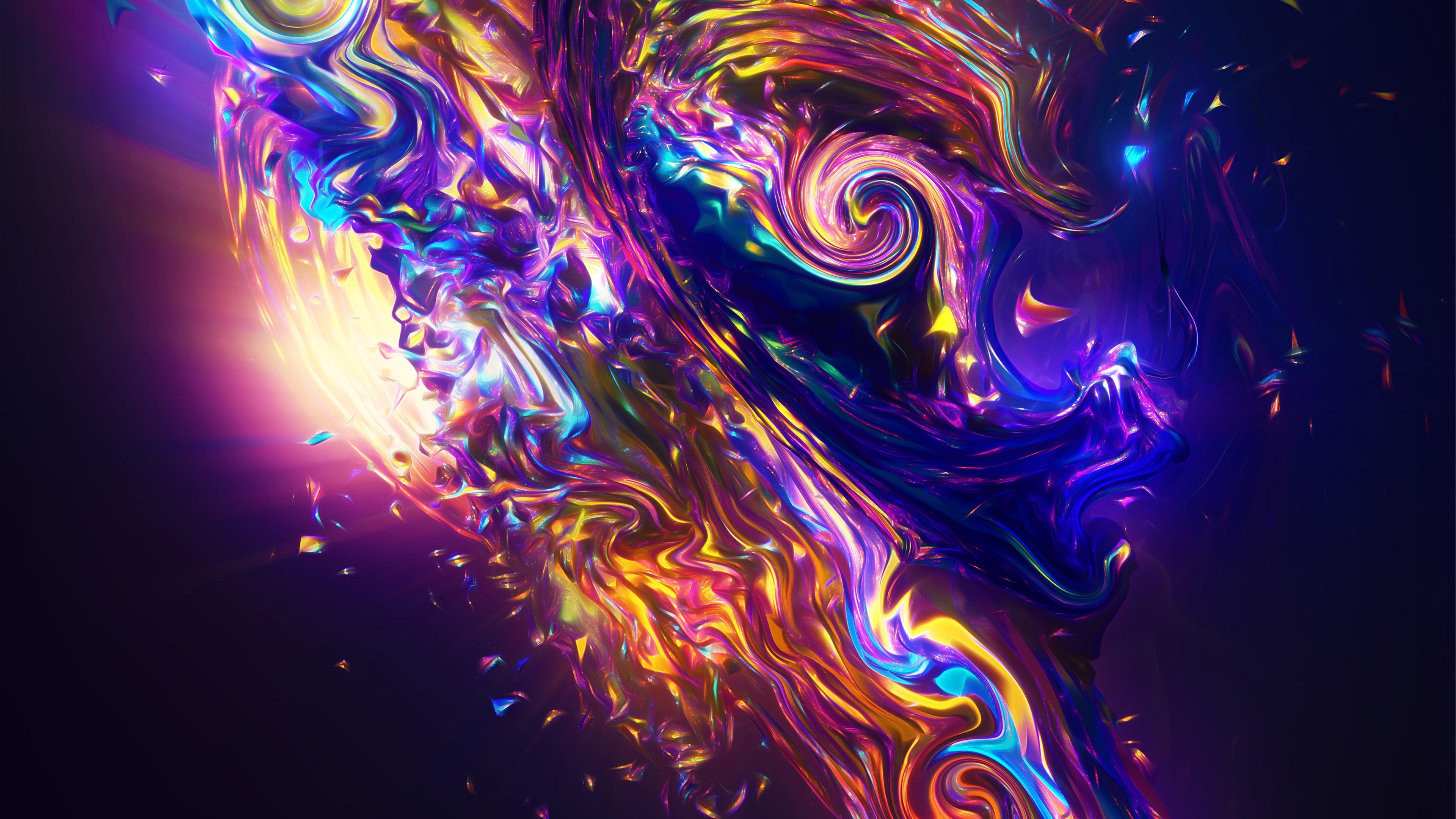 Абстрактное изображение в яркой,красивой гамме цветов с неоновыми светом