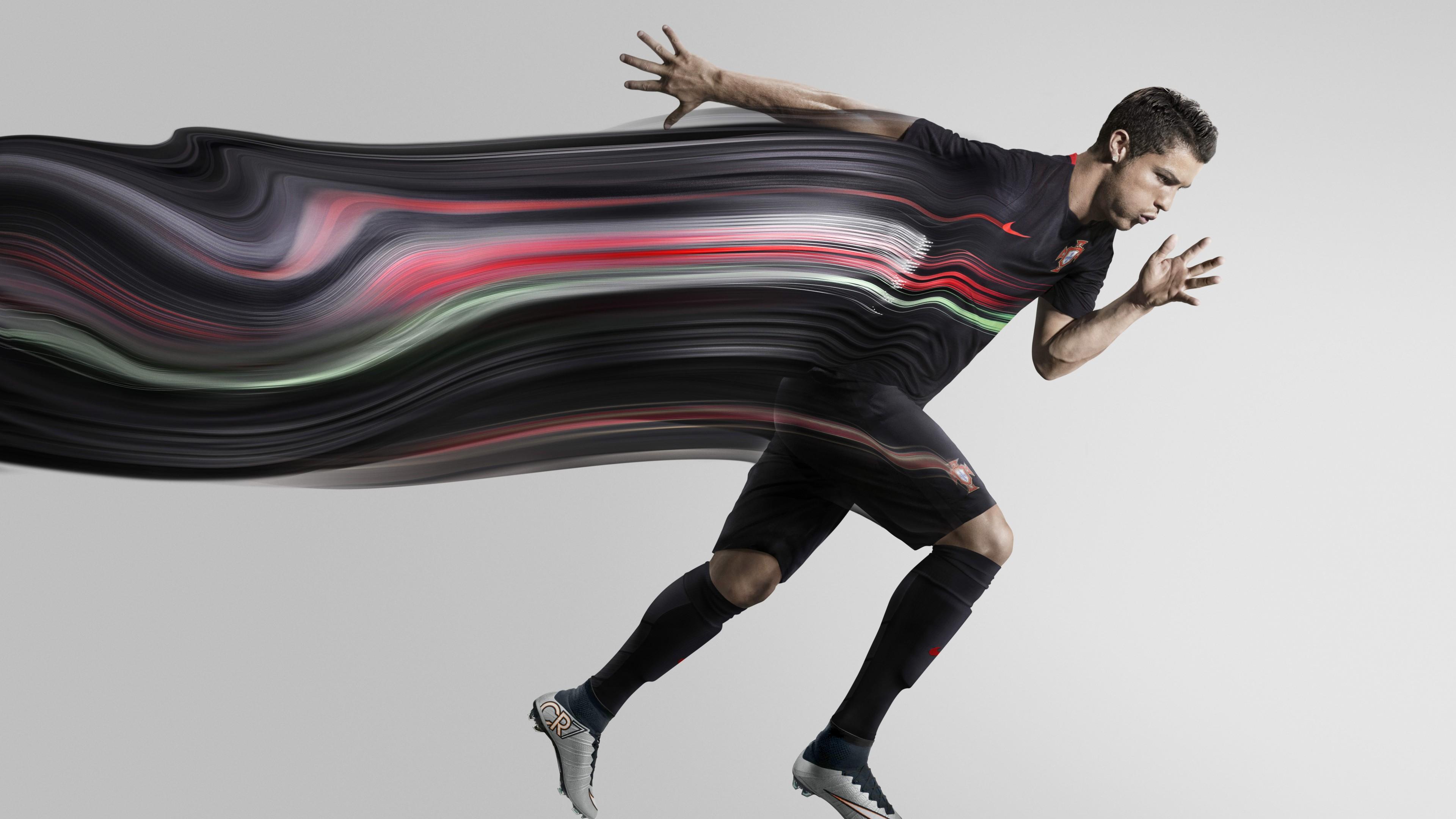 Реклама экипировки для футбола спортсменов Португалии