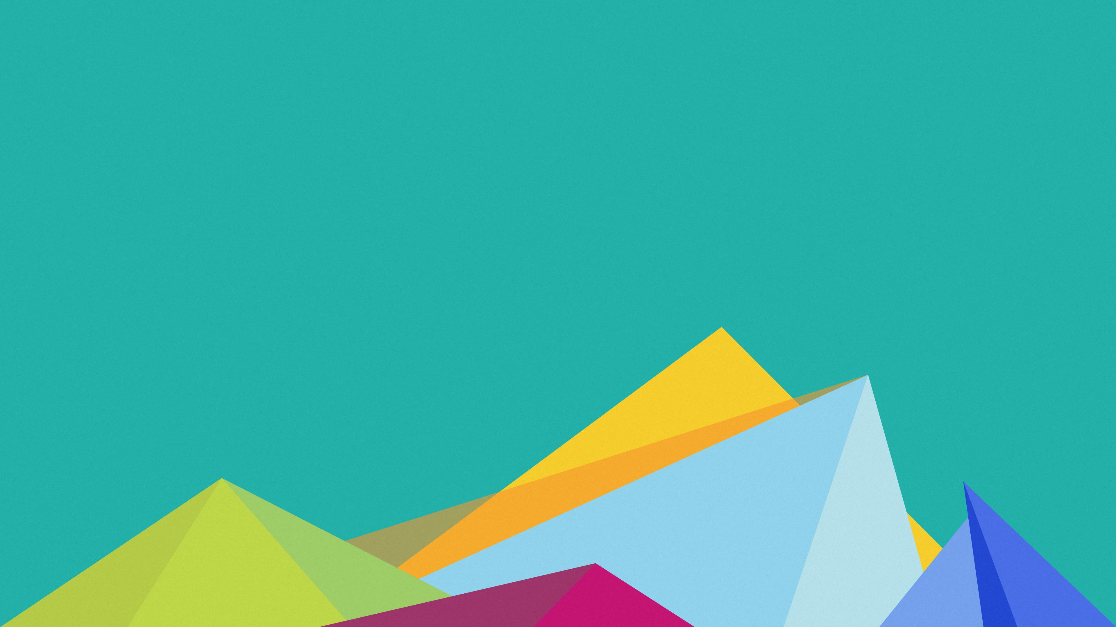 Геометрические фигуры-пирамиды,пики,многоугольники в цветовой гамме