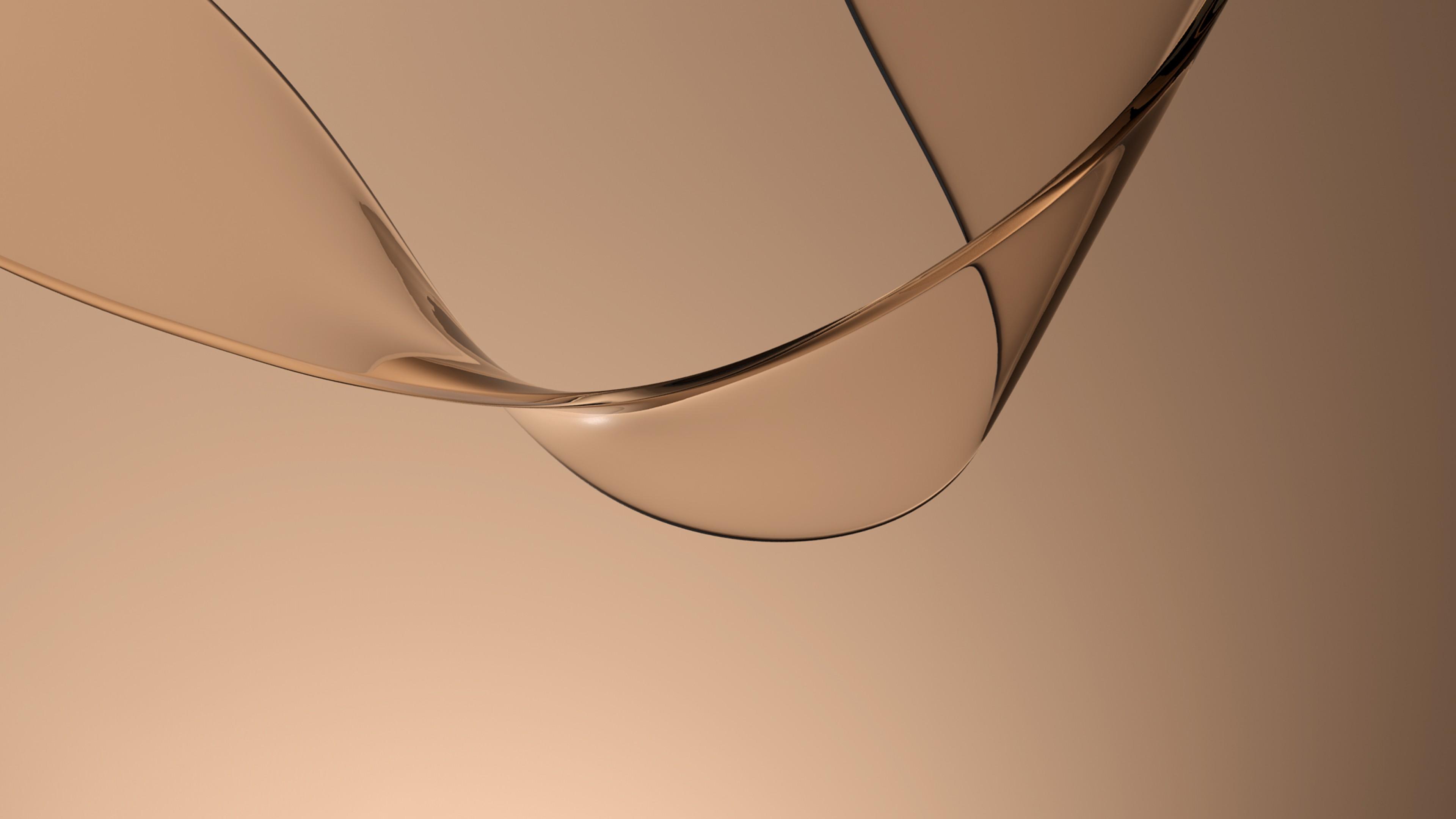 Фигурное светло-коричневое прозрачное стекло с блестящей полоской