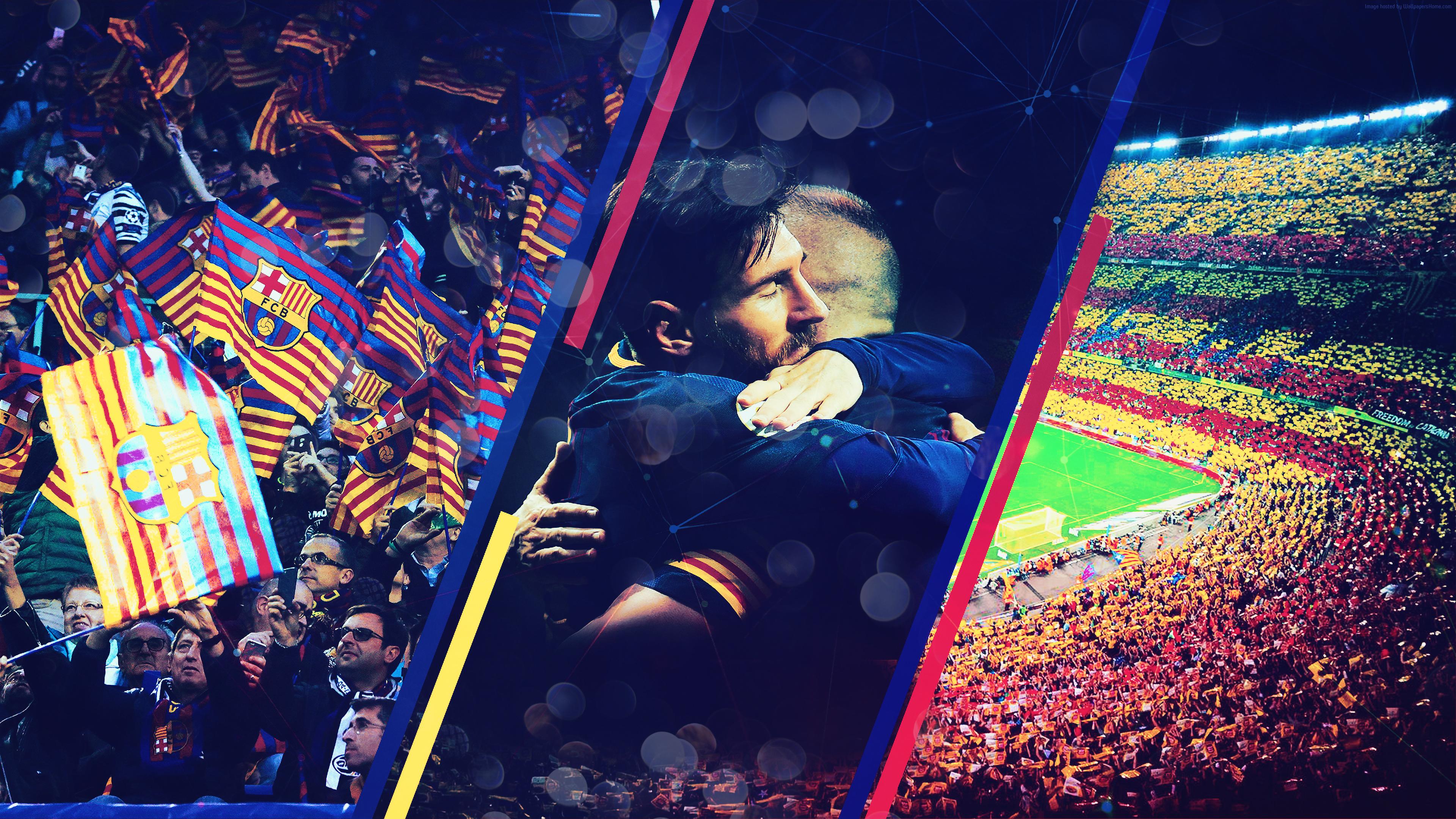 Фото прощального футбольного матча в Барселоне