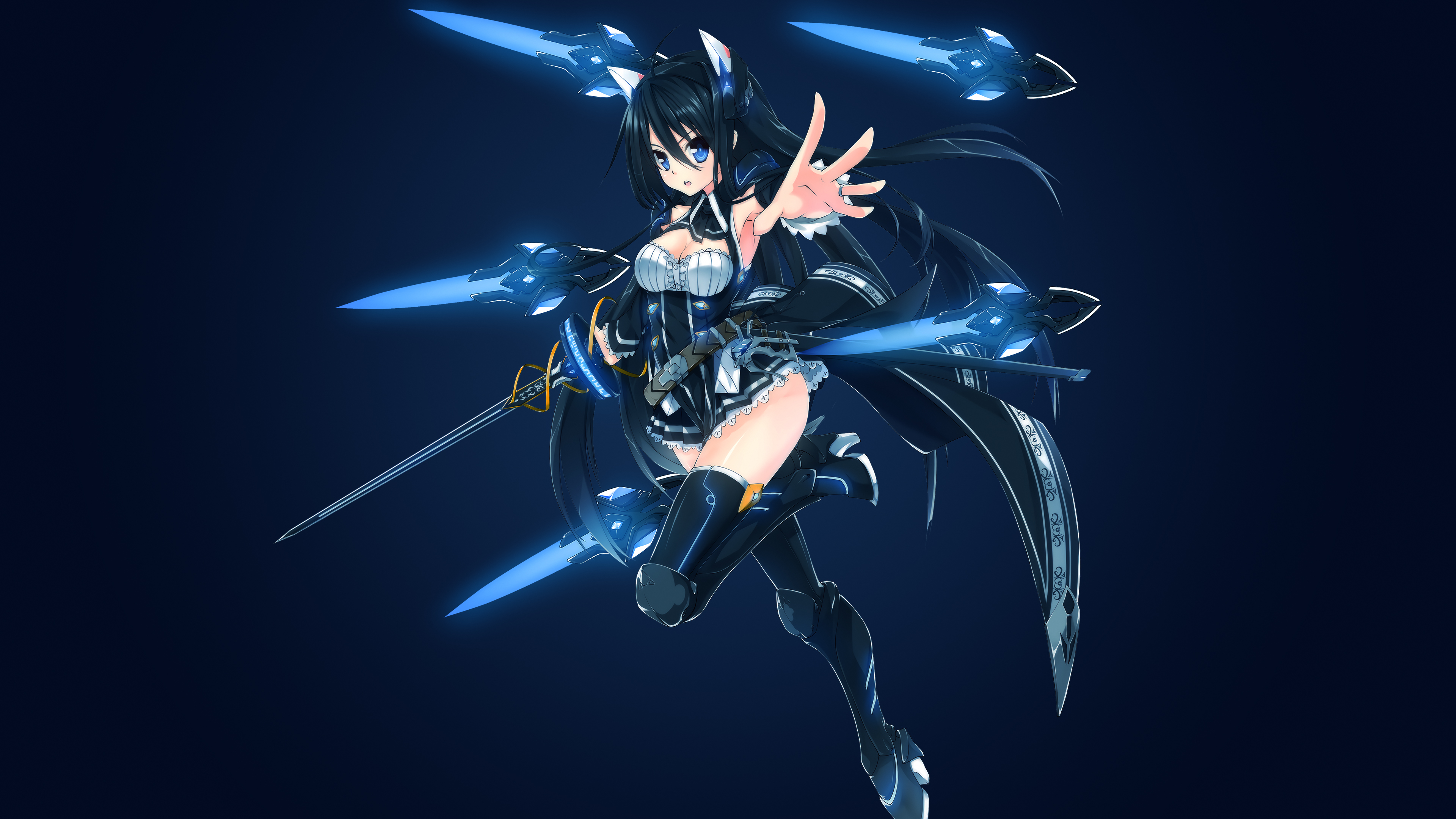 Темноволосая девушка-воительница со шпагой и стрелами