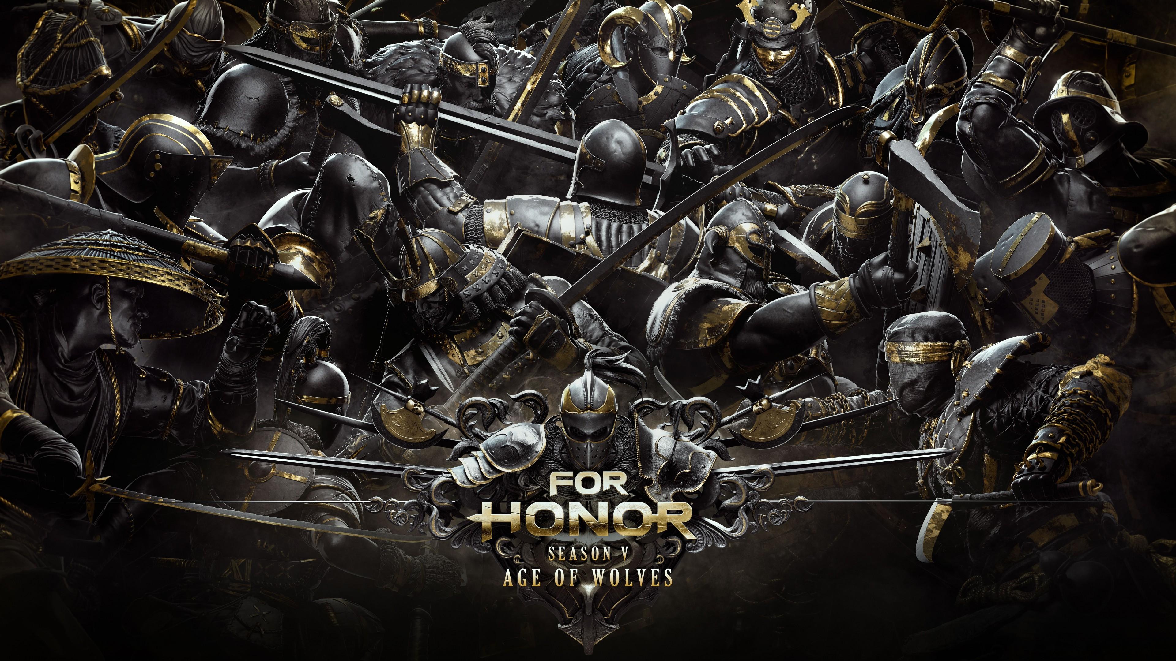 Рыцари в полном боевом снаряжение с золотыми полосами