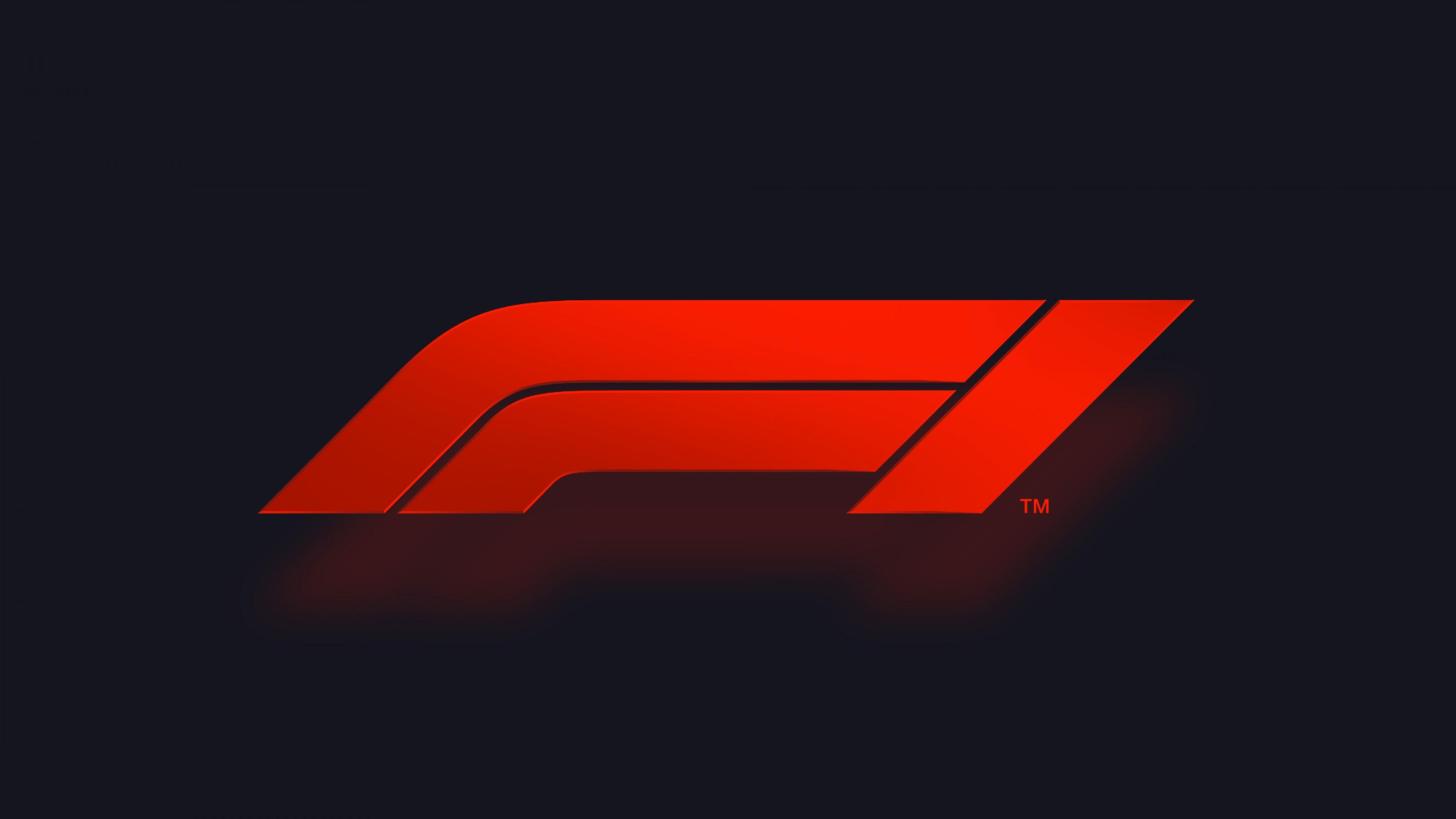 Красные полосы на черном фоне-логотип Формулы-1