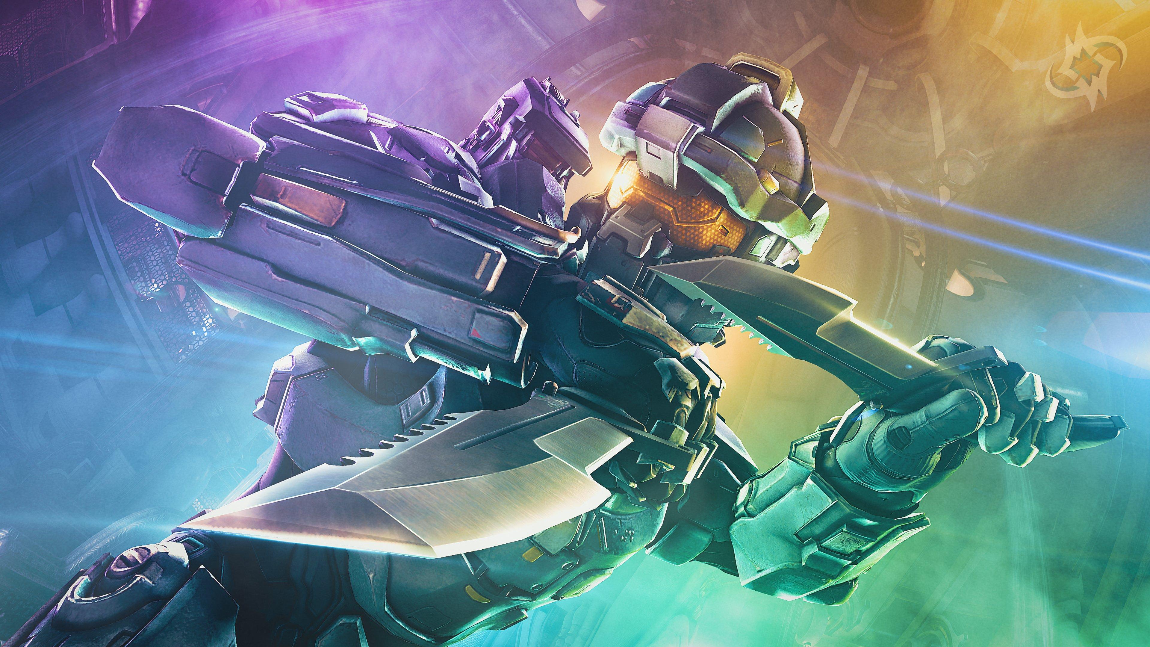 Робот в шлеме и с кинжалом в фантастической вселенной