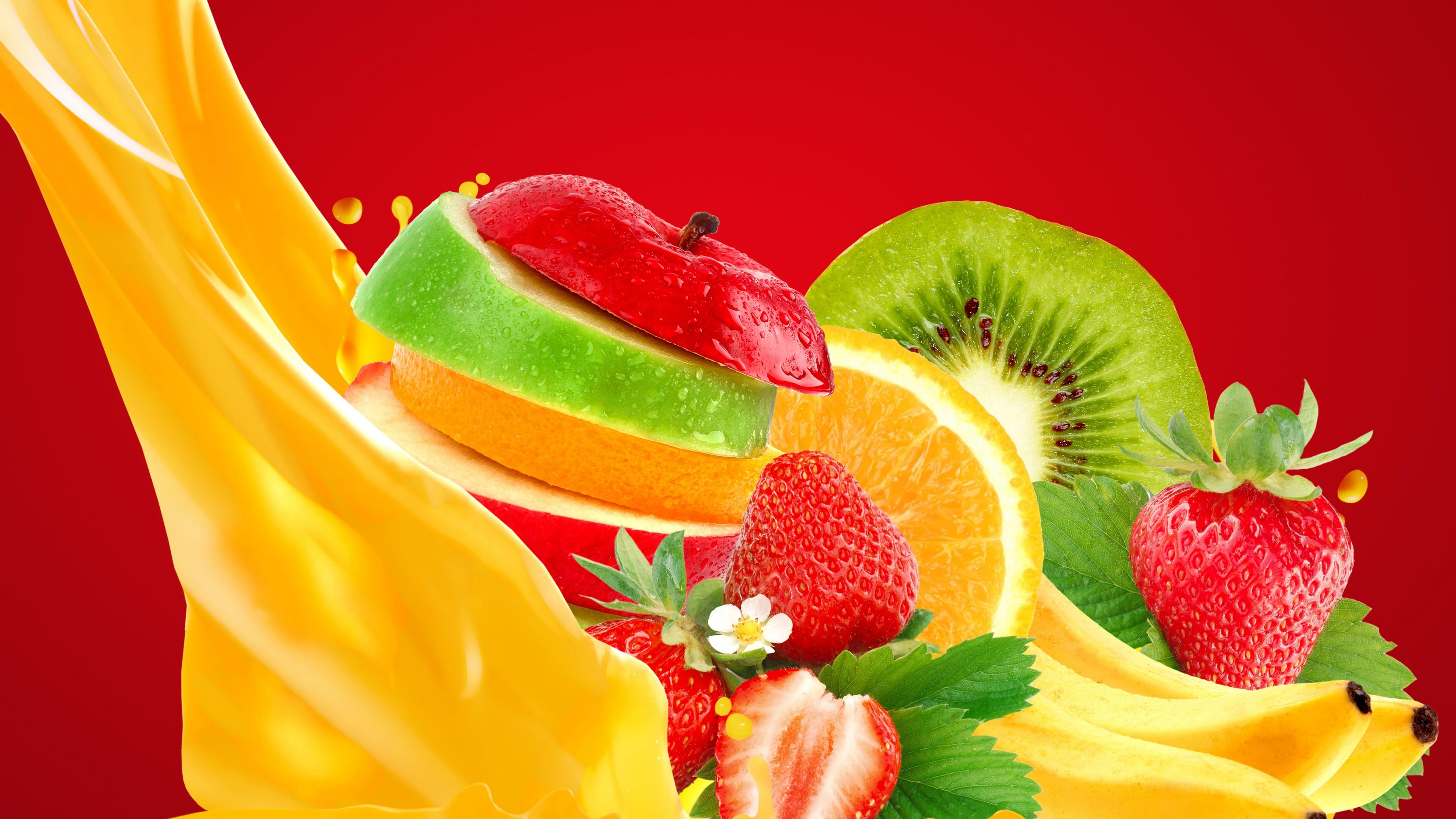 Оригинальный фруктовый коктейль с апельсиновым соком