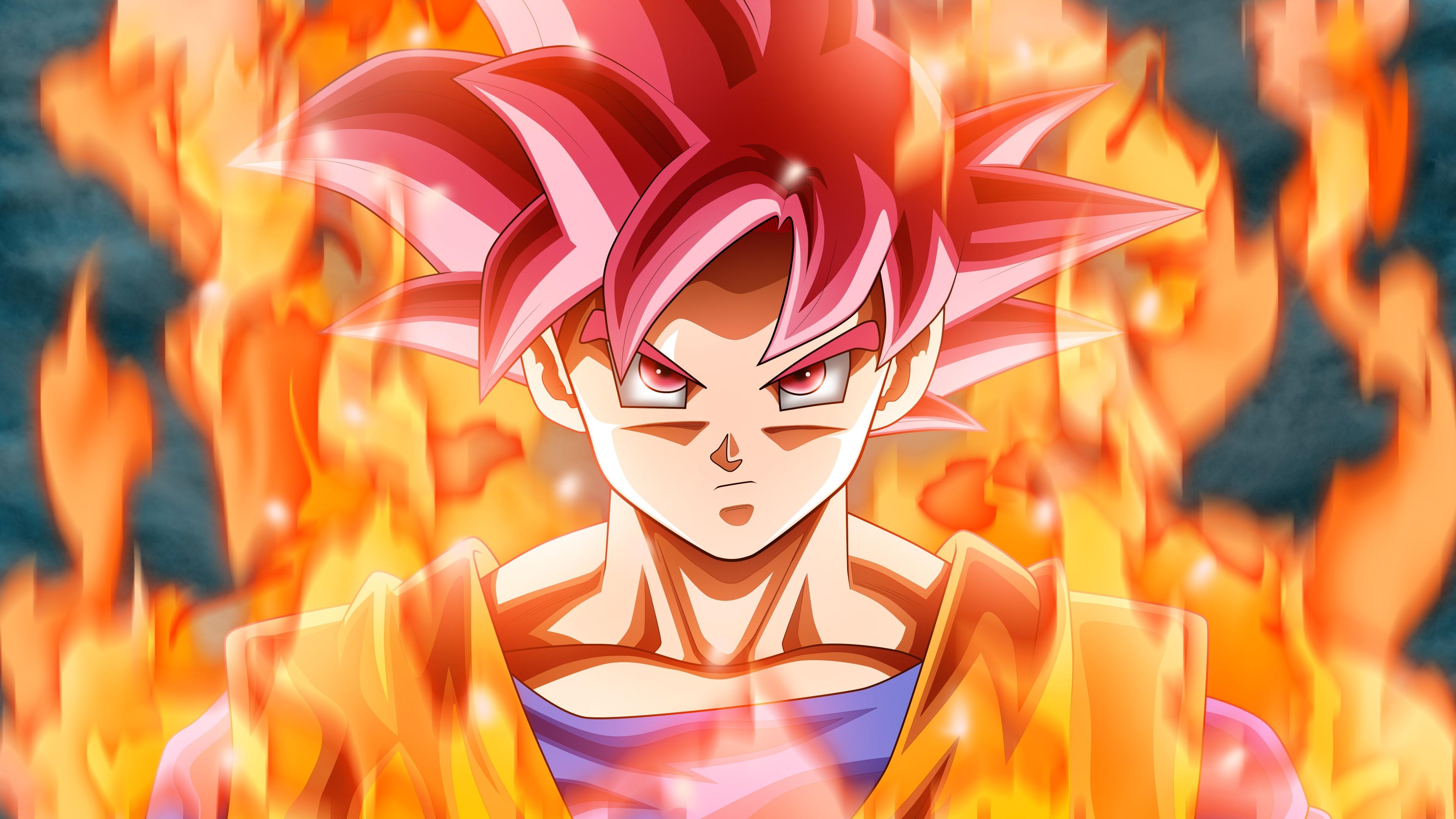 Персонаж воина Аниме с розовыми волосами и крепкого телосложения