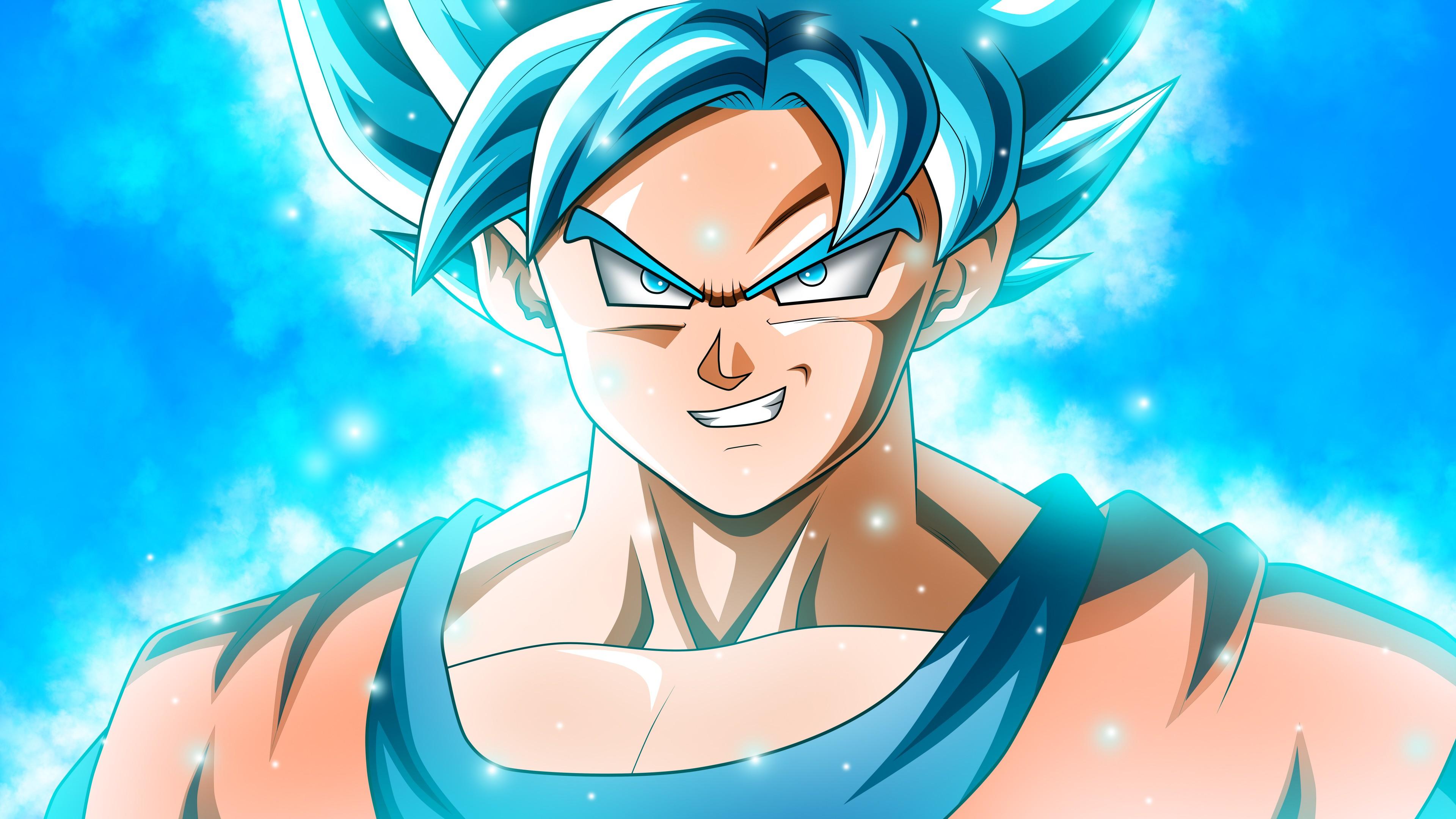 Аниме Персонаж воина внеземной расы со сверхчеловеческой силой с синим зарядом энергии