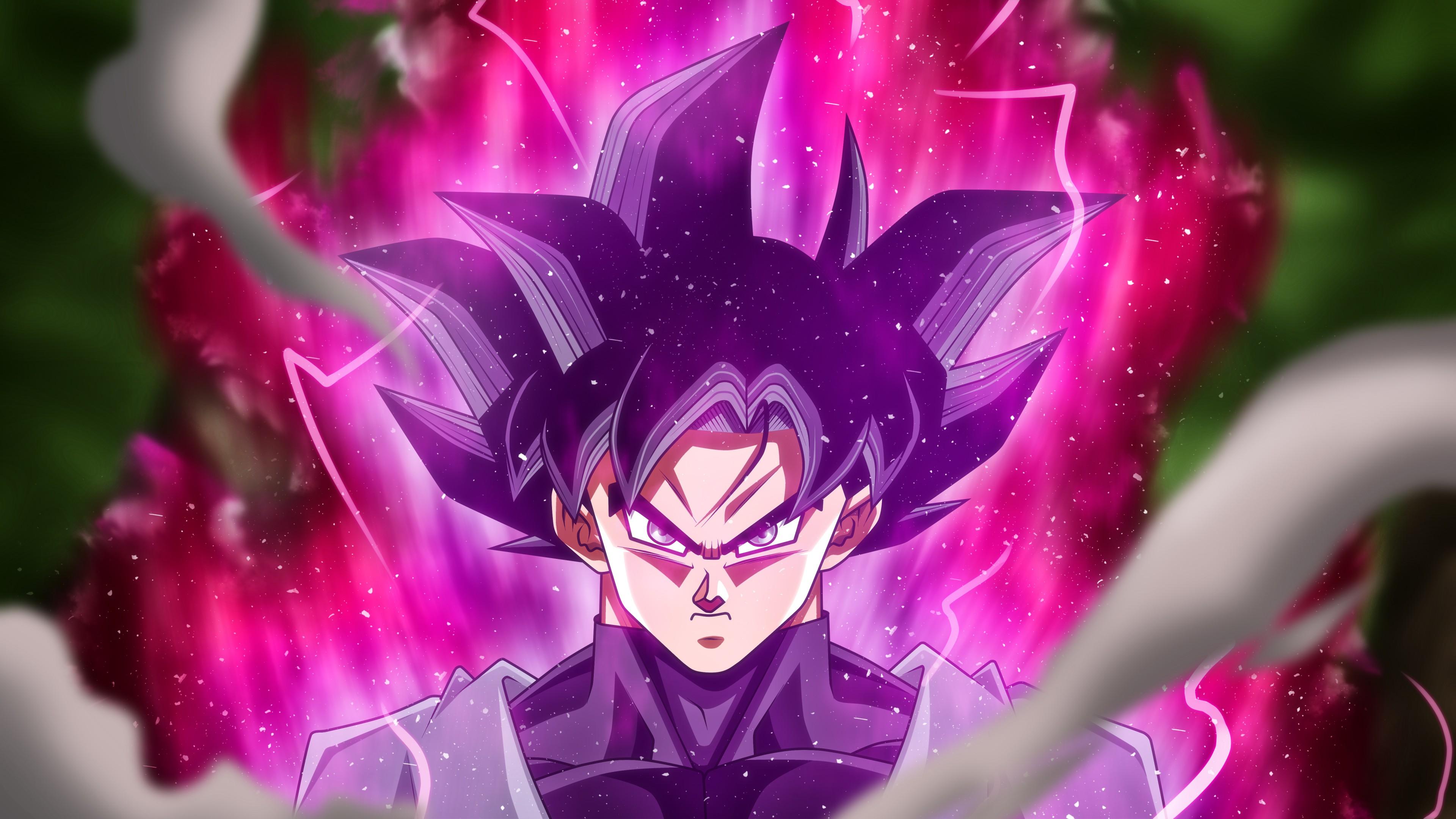 Персонаж аниме со злобным взглядом и энергетическим зарядом