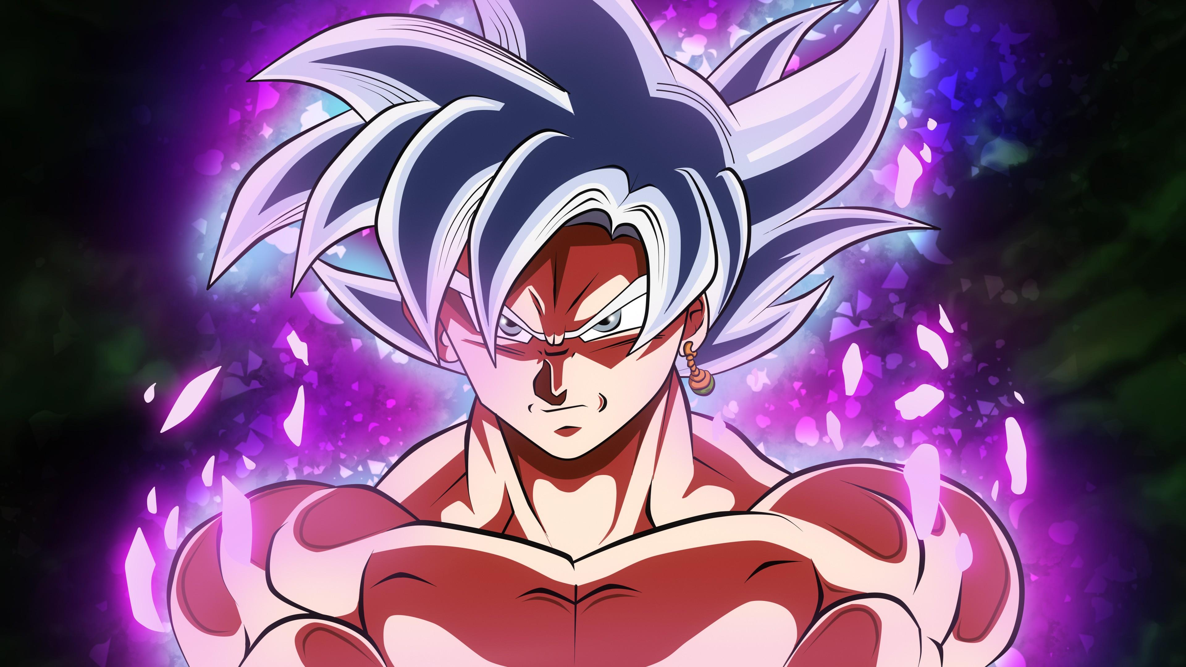 Персонаж Аниме воин с энергетической силой,надменным взглядом, с серьгой в ухе