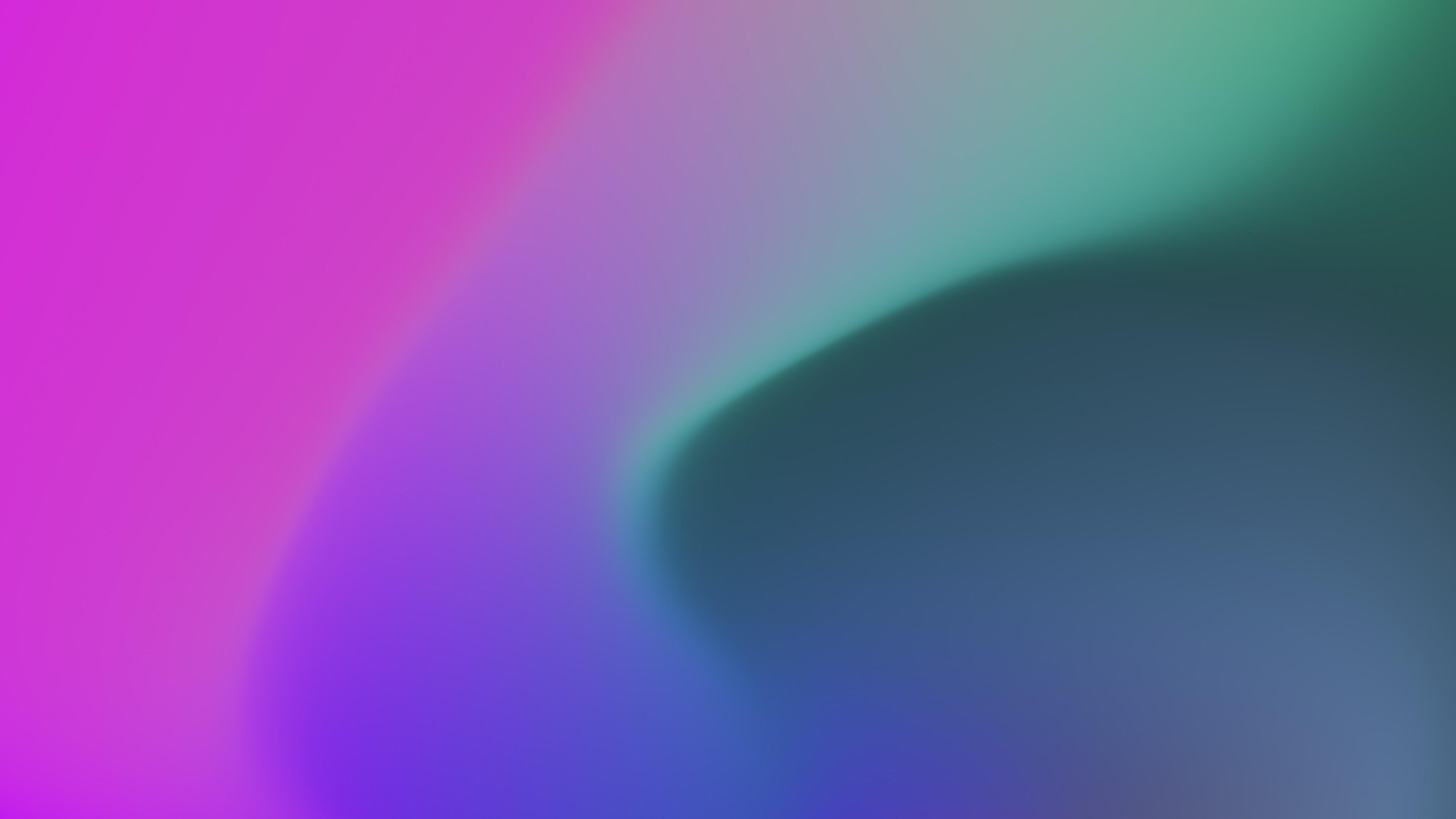 Расплывчатый зеленый овал в оттенках ультрафиолета
