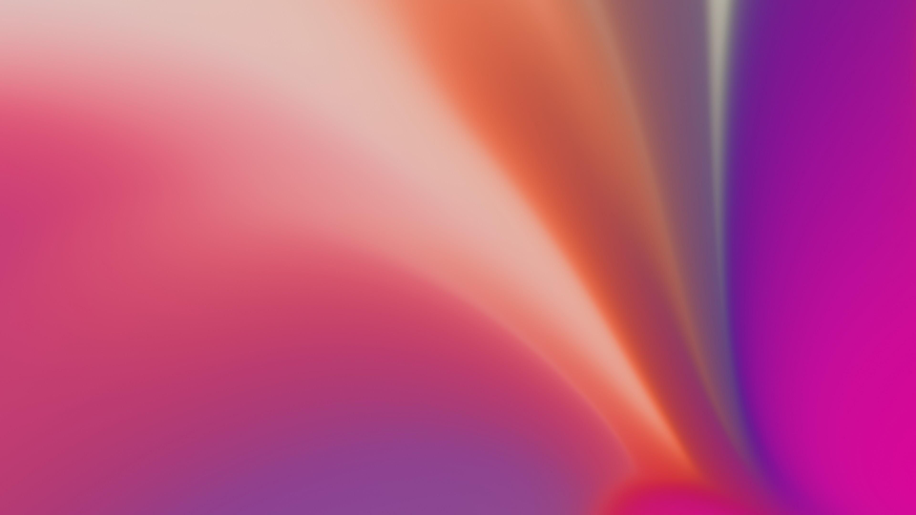 Абстрактный веерообразный фон оранжевого цвета с неоновой подсветкой